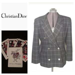 Vintage Christian Dior Blazer Gray Sz 12 Jacket